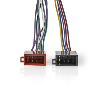Câble ISO 16 Broches Sony   Connecteur Radio - 2x connecteurs pour Voiture   0,15 m   Multicouleur