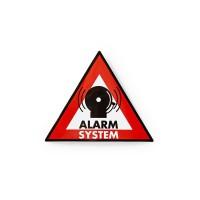 Autocollant d'Avertissement | Symbole de Système d'Alarme | Jeu de 5 pièces
