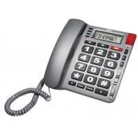 Téléphone d'Urgence de Table à Larges Touches Gris