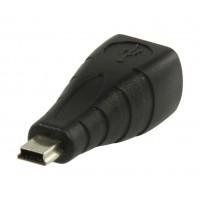 Adaptateur USB 2.0 USB B femelle – mini USB à 5 broches mâle
