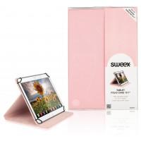"""Etui de protection pour tablette Portfolio 10"""" Universel Rose"""