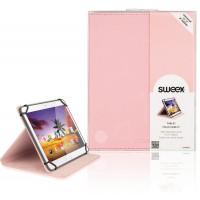 """Etui de protection pour tablette Portfolio 8"""" / Universel Rose"""