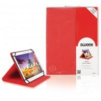 """Etui de protection pour tablette Portfolio 8"""" / Universel Rouge"""