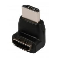 Adaptateur HDMI noir avec connecteur HDMI - entrée HDMI coudé à 270°