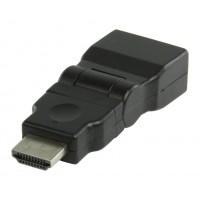 Adaptateur HDMI noir avec connecteur HDMI - entrée HDMI orientable