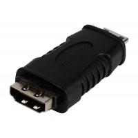 Adaptateur HDMI noir avec mini connecteur HDMI - entrée HDMI