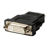 Adaptateur HDMI - DVI noir avec connecteur HDMI - DVI femelle