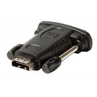 Adaptateur DVI - HDMI noir avec DVI mâle – entrée HDMI