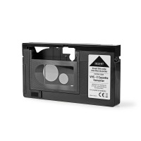 Convertisseur pour Cassettes VHS-C | VHS-C à VHS | Plug and play | Noir
