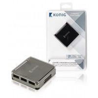 centre USB2.0 3ports et lecteur de carte mémoire