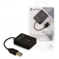 Lecteur de carte mémoire USB2.0 de voyage tout-en-un