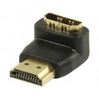 Adaptateur HDMI noir avec connecteur HDMI - entrée HDMI à angle droit