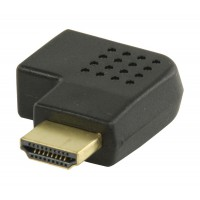 Adaptateur HDMI noir avec connecteur HDMI - entrée HDMI à angle droit droite