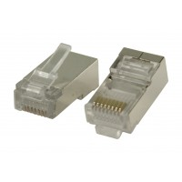 Connecteur RJ45 pour câble monobrin STP CAT5 10 pièces
