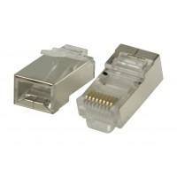 Connecteurs RJ45 pour câbles multibrin STP CAT5 10 pièces