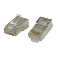 Connecteurs RJ45 pour câbles monobrin STP CAT6 10 pièces