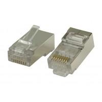 Connecteurs RJ45 pour câbles multibrin STP CAT6 10 pièces