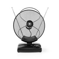Antenne HDTV d'Intérieur | 0 - 25 km | Gain de 30 - 36 dB | FM/VHF/UHF | Noire