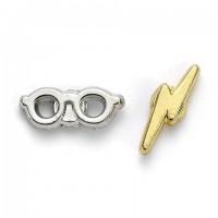 Boucles d'oreilles - Éclair et lunettes - Harry Potter