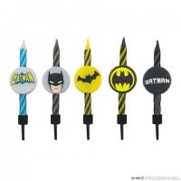 Lot de 10 bougies Anniversaire Logo Batman - DC Comics