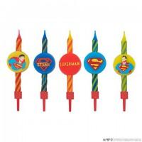 Lot de 10 bougies Anniversaire Logo Superman - DC Comics