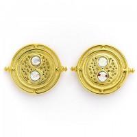 Boucles d'oreilles retourneur de temps en argent 925ème plaqué or - Harry Potter