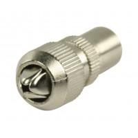 Connecteurs coaxiaux sans soudure à fiche coaxiale mâle métalliques 2 pièces