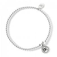Bracelet à perles Plateforme 9 3/4 - Argent 925ème avec Cristaux de Swarovski - Harry Potter