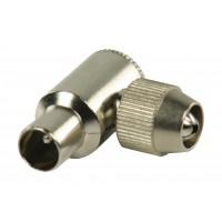 Connecteurs coaxiaux sans soudure coudés à fiche coaxiale mâle métalliques 2 pièces