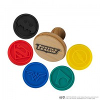 Lot de 5 tampons silicone pour cookies - Ligue des Justiciers