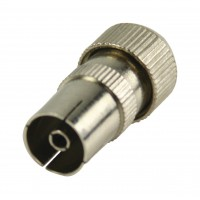 Connecteurs coaxiaux sans soudure à fiche coaxiale femelle métalliques 2 pièces