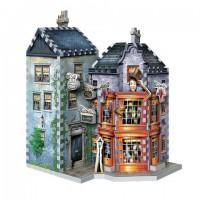 Boutiques Weasley, Farces pour sorciers facétieux et Daily Prophet - puzzle 3D Wrebbit - Harry Potter