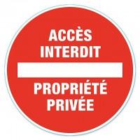"""Disque de signalisation """"Propriété privée"""" - PVC adhésif - Ø 280 mm"""
