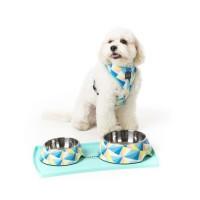 FUZZYARD Tapis de gamelle Silicone - 48 x 30.5cm - Pour chien