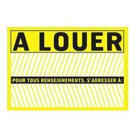 Panneau de signalisation A louer - PVC adhésif - 275 x 190 mm