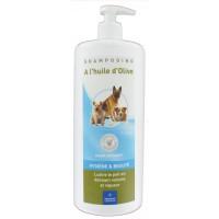 DEMAVIC Shampooing a l'huile d'olive - 1 L - Pour chien