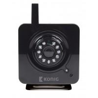 Caméra IP d'intérieur perfectionnée, noire