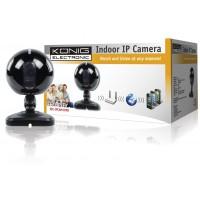 Caméra IP d'intérieur, noire