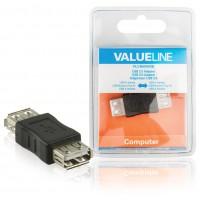 adaptateur USB 2.0 à connecteur USB A femelle vers USB A femelle noir