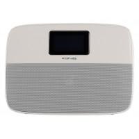 Haut parleur bluetooth portable avec fonction réveil blanc