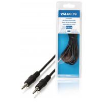 Câble audio Jack 3,5 mm stéréo mâle vers Jack 3,5 mm mâle 5,00 m noir