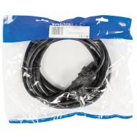 Câble d''alimentation Schuko mâle coudé - IEC-320-C13 5.00 m noir