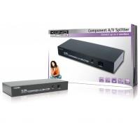 4 ports composant audio / vidéo splitter