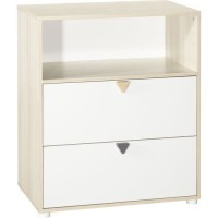 BABY PRICE ENZO Commode a langer 2 tiroirs 1 niche