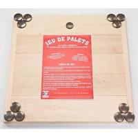 MECABOIS Jeu de Palet Complet - 12 plates a lancer et planche en bois (Jeu Breton)