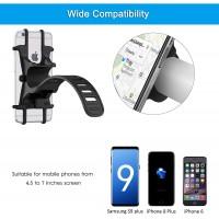 Support Téléphone Vélo Universel Silicone Porte-Téléphone de Vélo pour iPhone Samsung Huawei et 4.5-7.0 Pouces Smartphones Idéal