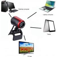 Webcam USB2.0 avec MIC, Caméra Web HD 16MP 360 pour Ordinateur PC Ordinateur Portable pour Skype/MSN, Prise en Charge de Window
