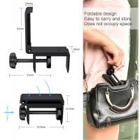 Headset Stand, Support Casque en Aluminium & Silicone Pose Casque Pliable de Bureau Porte Casque Réglable Multifonction pour Cas