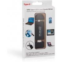 Lecteur Carte SD USB Micro SD Card Reader - Sonoka 3 en 1 Lecteur de Carte Mémoire USB 2.0/Type C/Micro USB Lecteur Carte SD,TF,