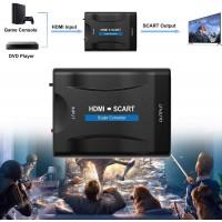 HDMI vers Scart Adaptateur, Convertisseur HDMI vers Péritel avec pour Sky HD Blu Ray DVD HDTV STB VHS Xbox PS3, Compatible avec